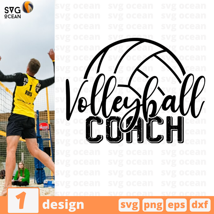 Volleyball coach SVG vector bundle - Svg Ocean