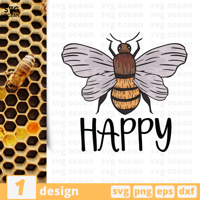 Free Bee quote SVG printable cut file Bee - Svg Ocean