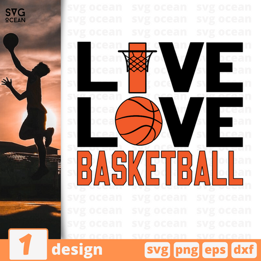 Live. Love. Basketball SVG vector bundle - Svg Ocean