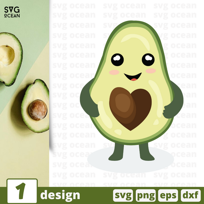 Free Avocado quote SVG printable cut file Avocado - Svg Ocean