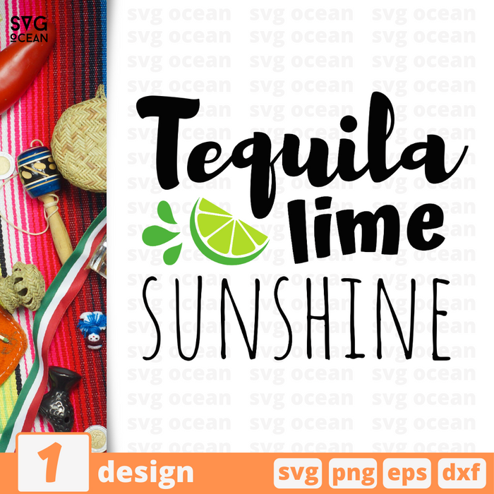 Tequila lime sunshine SVG vector bundle - Svg Ocean