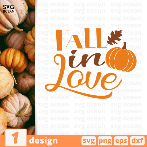 Fall in love SVG vector bundle - Svg Ocean