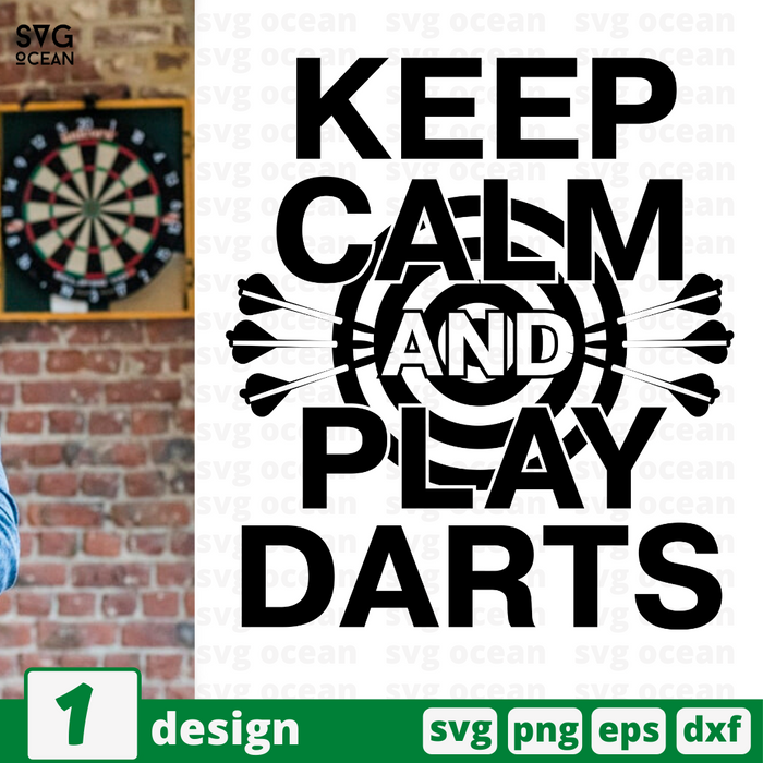 Keep calm And play Darts SVG vector bundle - Svg Ocean