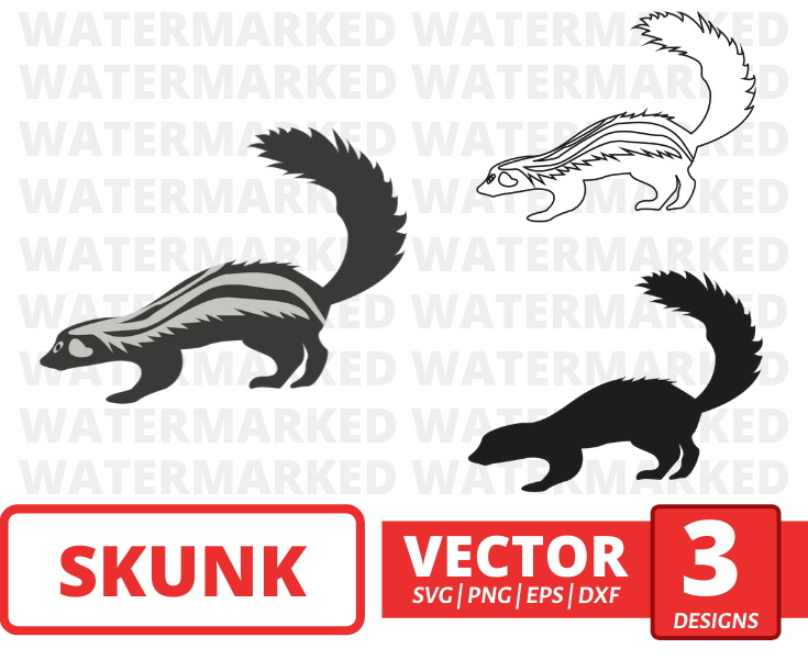 Skunk SVG vector bundle - Svg Ocean