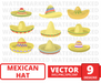Mexican hat SVG vector bundle - Svg Ocean