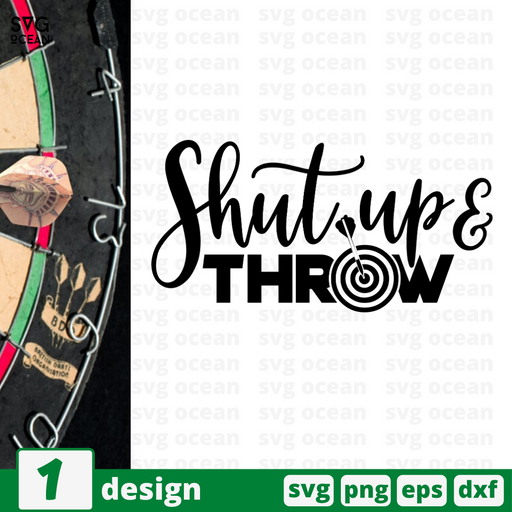 Shut up & throw SVG vector bundle - Svg Ocean