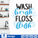Wash brush Floss flush SVG vector bundle - Svg Ocean