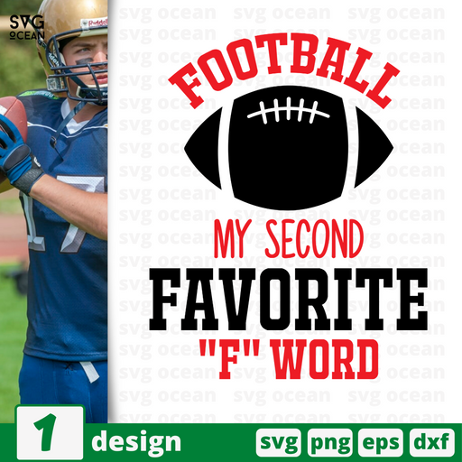 Football my second favorite F word SVG vector bundle - Svg Ocean