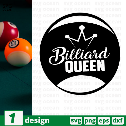 Billiard queen SVG vector bundle - Svg Ocean