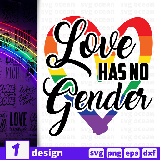 Love has no gender SVG vector bundle - Svg Ocean