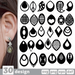 Teardrop earrings SVG vector bundle - Svg Ocean