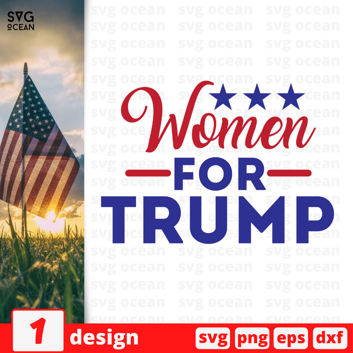 Women for Trump SVG vector bundle - Svg Ocean