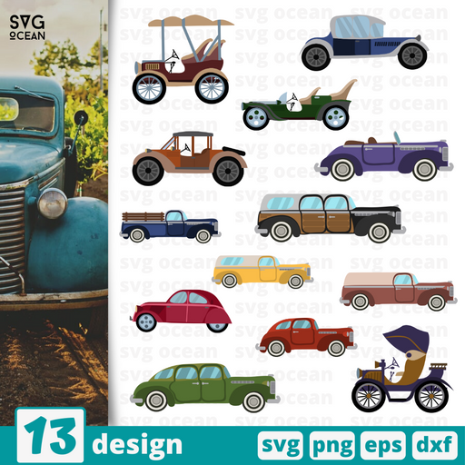 Vintage cars SVG vector bundle - Svg Ocean