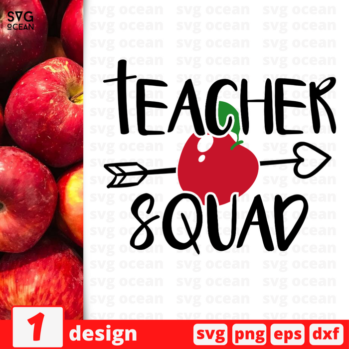 Teacher squad SVG vector bundle - Svg Ocean
