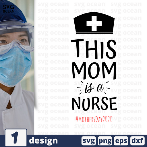 Mom is a nurse SVG cut file - Svg Ocean