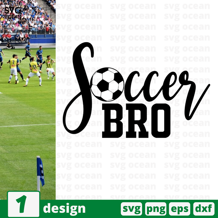 Soccer bro SVG vector bundle - Svg Ocean