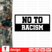 No to racism SVG vector bundle - Svg Ocean