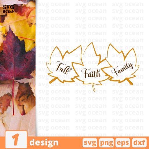 Fall Faith Family SVG vector bundle - Svg Ocean