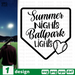 Summer Hights Ballpark Lights SVG vector bundle - Svg Ocean