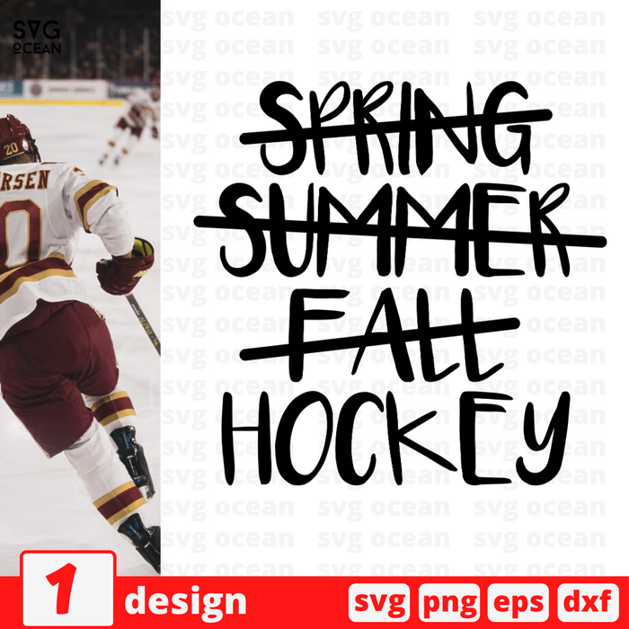 Spring summer fall Hockey SVG vector bundle - Svg Ocean