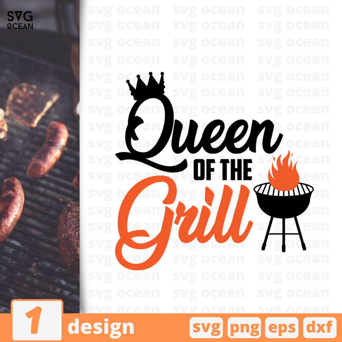 Queen of the grill SVG vector bundle - Svg Ocean