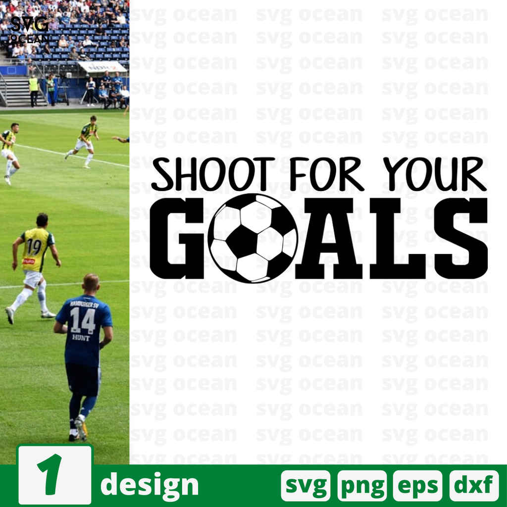 Shoot for your goals SVG vector bundle - Svg Ocean