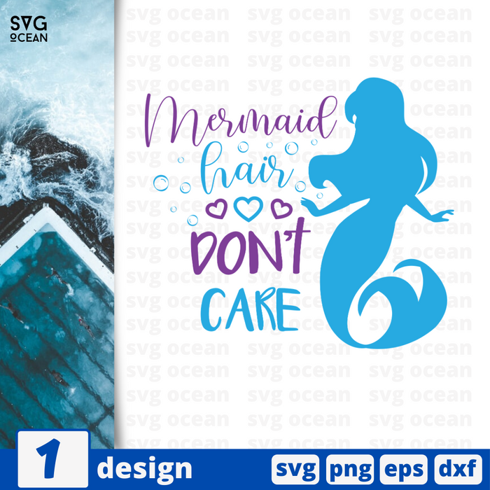 Mermaid hair don't care SVG vector bundle - Svg Ocean