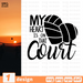 My heart is on that court SVG vector bundle - Svg Ocean