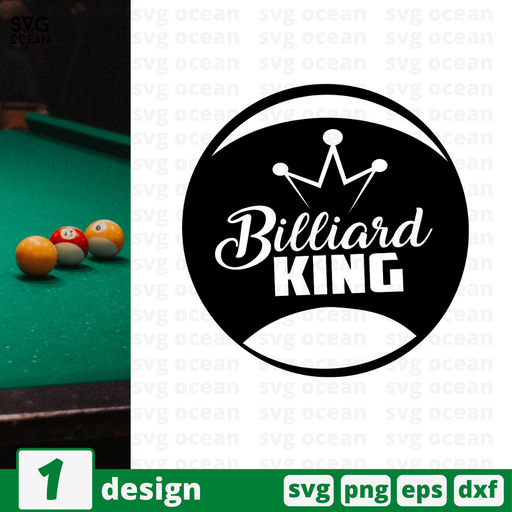 Billiard King SVG vector bundle - Svg Ocean