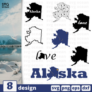 Alaska  SVG vector bundle - Svg Ocean