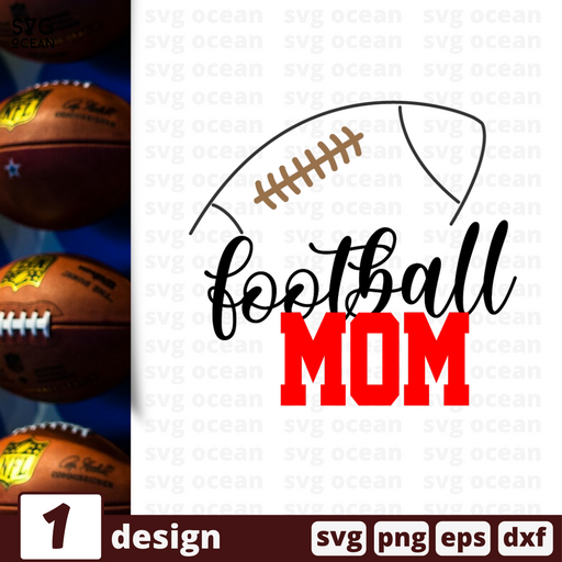 Free Football quote SVG printable cut file Football mom - Svg Ocean