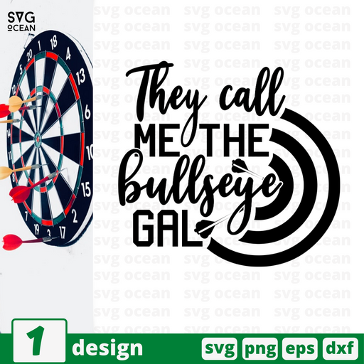 They call me the bullseye gal SVG vector bundle - Svg Ocean