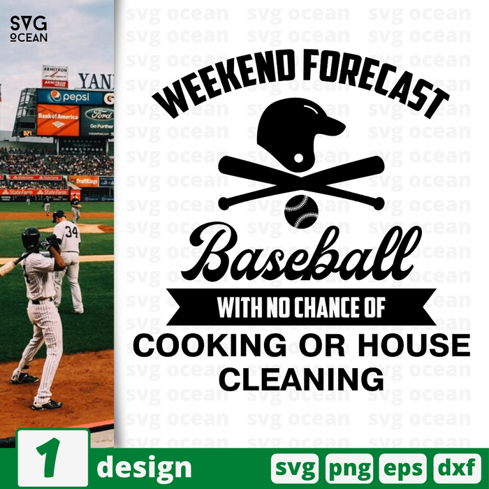 Weekend forecast baseball with a chance of drinking SVG vector bundle - Svg Ocean