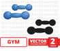 Bluedumbbell SVG vector bundle - Svg Ocean