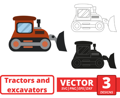 Bulldozer  SVG vector bundle - Svg Ocean