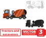 Concrete mixer SVG vector bundle - Svg Ocean