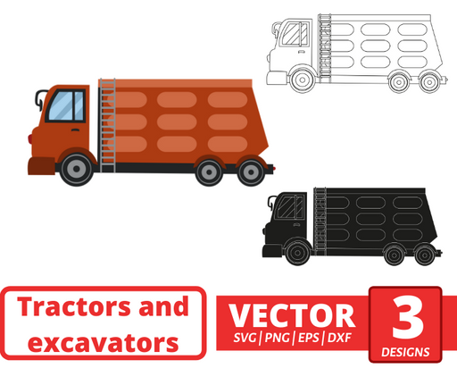 Dump truck SVG vector bundle - Svg Ocean