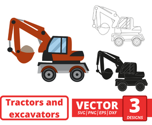 Excavator SVG vector bundle - Svg Ocean
