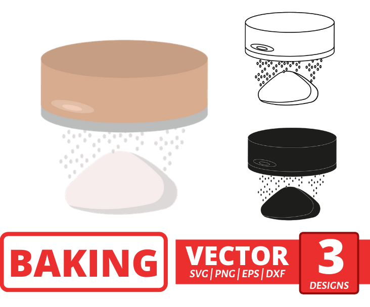 Flour sieve SVG vector bundle - Svg Ocean