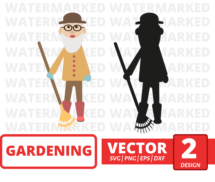 Gardener man SVG vector bundle - Svg Ocean