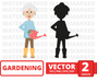 Gardener woman SVG vector bundle - Svg Ocean