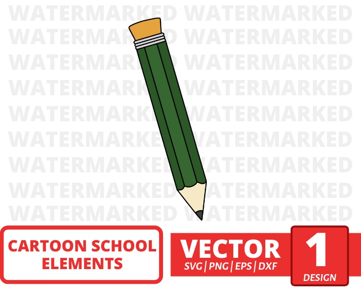 Green pencil SVG vector bundle - Svg Ocean