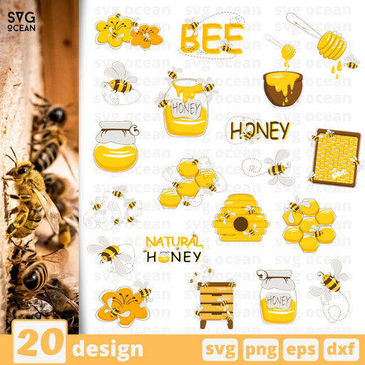 Bees  svg files for cricut - Svg Ocean