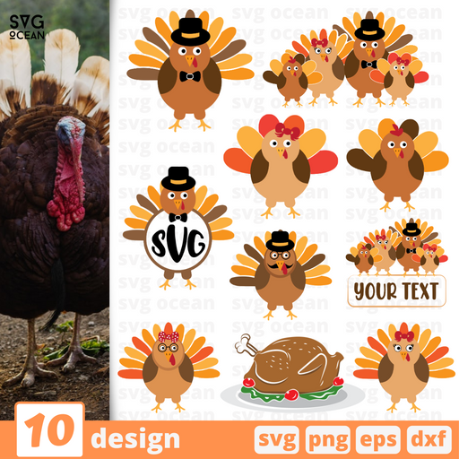 Turkey SVG vector bundle - Svg Ocean