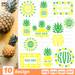 Monogram frames pineapple SVG vector bundle - Svg Ocean