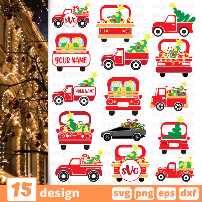 Christmas truck SVG bundle - Svg Ocean
