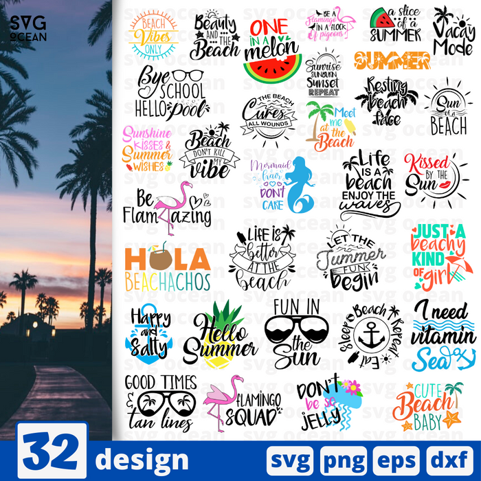 Summer quotes SVG vector bundle - Svg Ocean