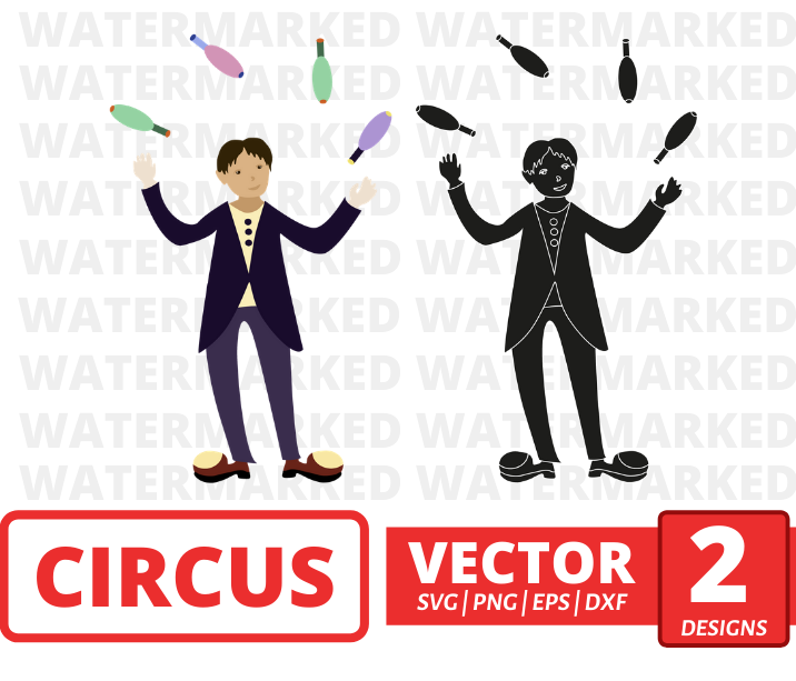 Juggler SVG vector bundle - Svg Ocean