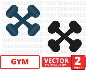 Light dumbbell SVG vector bundle - Svg Ocean