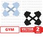 Metal dumbbell SVG vector bundle - Svg Ocean